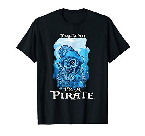 Halloween Pirate Costume T-Shirt for the Last Minute Party