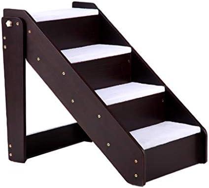 QFF Escalera para mascotas, Sala de estar Escalera de madera Dormitorio Escalera de cuatro peldaños Balcón Escalera exterior Tamaño 63 * 46 * 59CM doblez (Tamaño : 63 * 46 * 59CM): Amazon.es: Bricolaje y herramientas