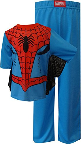 Spiderman Dress Like Spidey Pajamas With Webbed Sleeves for Little Boys (6)