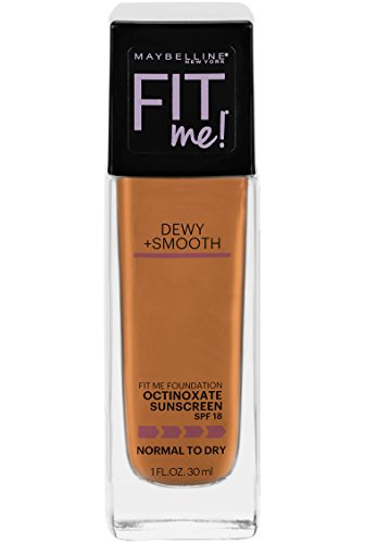 Maybelline New York Fit Me Dewy + Smooth Foundation, Coconut, 1 fl. oz. (Packaging May Vary)