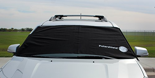 Delk Polarshield Winter Snow Car Wind Proof Windshield Cover with Security Panels Standard Size ()