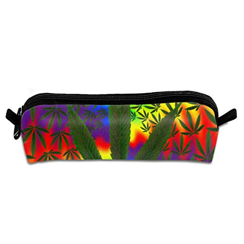 Rasta Single (FSXIK Trippy Pot Leaf Rasta Novelty Women Colored Cosmetic Bag Zipper Single Layer Travel Storage Makeup Bags Purse)
