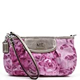 COACH Madison Floral Print Large Wristlet in Pink / Multi Converts to Top Handle 47596, Bags Central