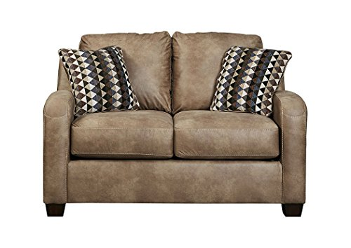 Benchcraft - Alturo Contemporary Upholstered Loveseat - Dune (Sofa Dune Corner)