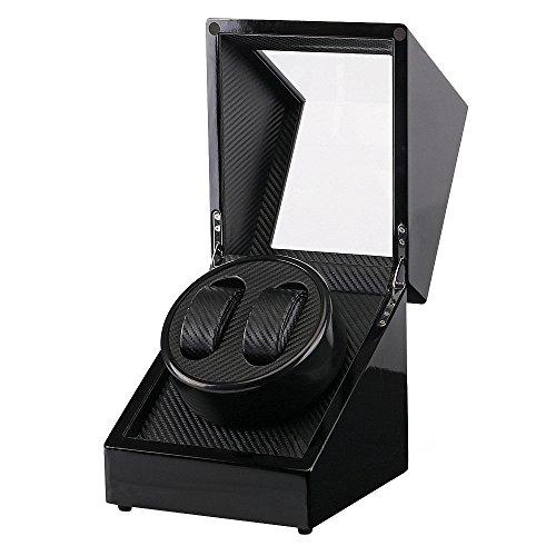 IRON JIA'S Double Decorative box Automatic Mechanical Watch Winder,Piano Paint,Ultra-quiet Mabuchi Motor Rotator by IRON JIA'S (Image #1)