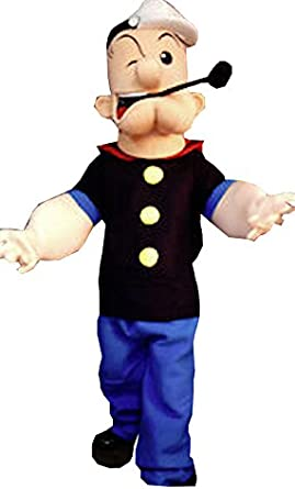 Mens Popeye Sailor Humourous Men Adult Costume Party Dress Outfits