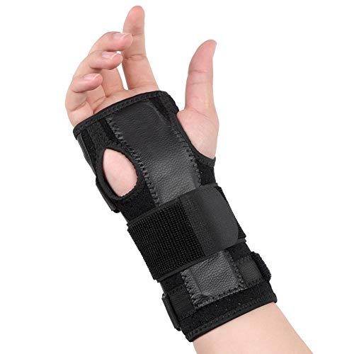 Removable Splint (Wrist Support Brace, Carpal Tunnel Wrist Brace Stabilizer Wrist Protector with Removable Splint and Adjustable Stretchy Straps for CTS, Tendonitis, Sprain Pain Relief, Fits Either Left or Right Hand)