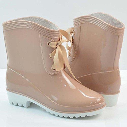 lluvia apricot femenino de moda botas wOUwT