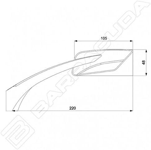 BARRACUDA: B-LUXシリーズ E-VERSION B-LUX (Eバージョン ビールックス) アルミビレットミラーセット | E-VERSION ブラック/クローム brc-e-version-chrome brc-e-version-chrome