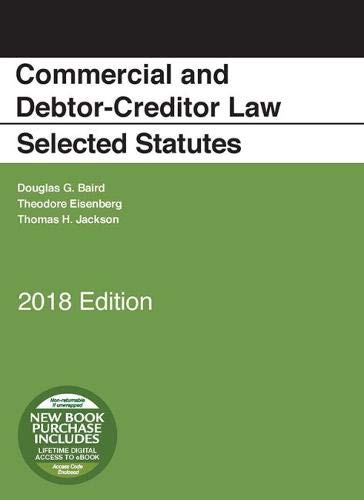- Commercial and Debtor-Creditor Law Selected Statutes, 2018 Edition