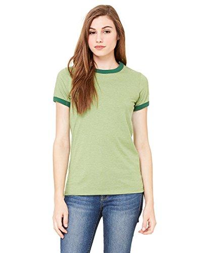 (Bella + Canvas - Ladies' Heather Ringer T-Shirt - 6050)