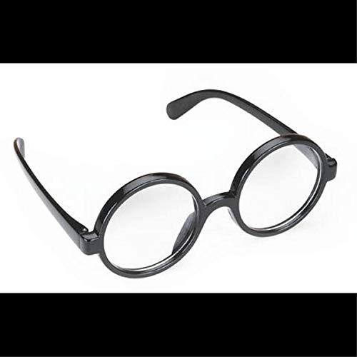 Steampunk-BLACK ROUND OWL GLASSES-Harry Potter School Boy Naughty Girl Costume]()