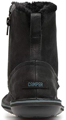 #Camper Beetle K400292 Black Womens Hi Leather Boots