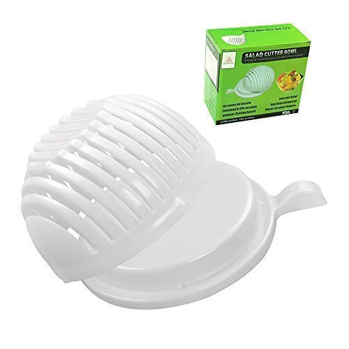 (Salad Cutter Bowl,Easily Fruit Vegetable Salad Maker Bowl in 60 Seconds Fast and Effective)