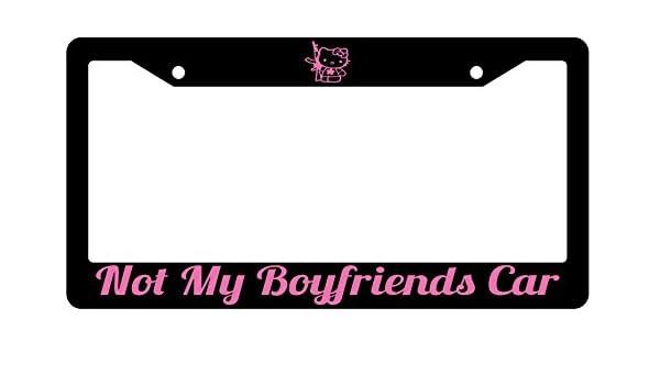 NOT MY BOYFRIEND/'S CAR License Plate Frame