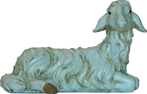 Miniatur Modell Figur Schaf liegend Höhe 3,7cm geeignet für 15-20cm Figuren Zisaline