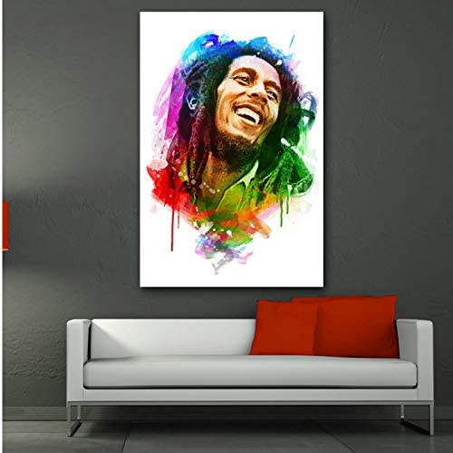 BOB MARLEY TYPOGRAPHY CANVAS PICTURE PRINT WALL ART HOME DECOR FREE DELIVERY