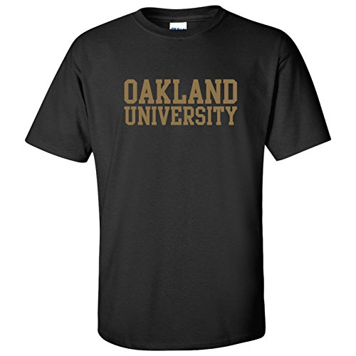 AS01 - Oakland University Golden Grizzlies Basic Block T-Shirt - Large - ()