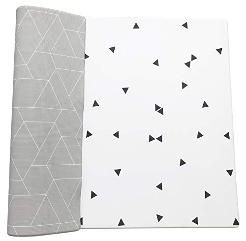 Ofie Mat by Little Bot, Soft Baby Play mat, Reversible Foam Floor mat, Waterproof, 6.5 ft x 4.5 ft, Durable and Non-Toxic (Zen line + Triangle, Large)