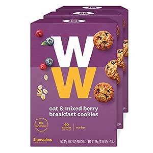 Amazon Com Ww Oat Amp Mixed Berry Breakfast Cookies 3