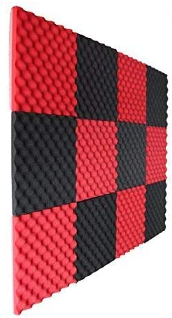 12 Pack Charcoal Slim egg crate foam acoustic foam tiles soundproofing foam pane