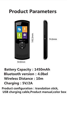 Smart Voice Translator Device with WiFi or 4G Touch Screen Support 41 Difference Foreign Languages Translated(Black) (Black) by Zuchini (Image #4)