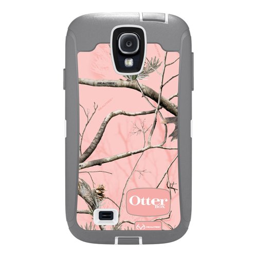 OtterBox Defender Series Case and Holster for Samsung Galaxy S4 - Retail Packaging - Realtree Camo - AP Pink