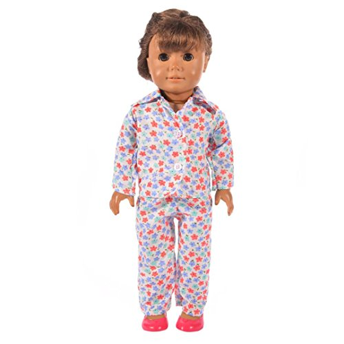 Witspace Fashion Blouse + Pants Pajamas For 18 Inch Our Generation American Girl Doll (Multicolor J)
