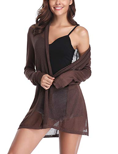 Abollria Long Open Front Lightweight Breathable Cardigans - Wrap Long Cardigan Sleeve