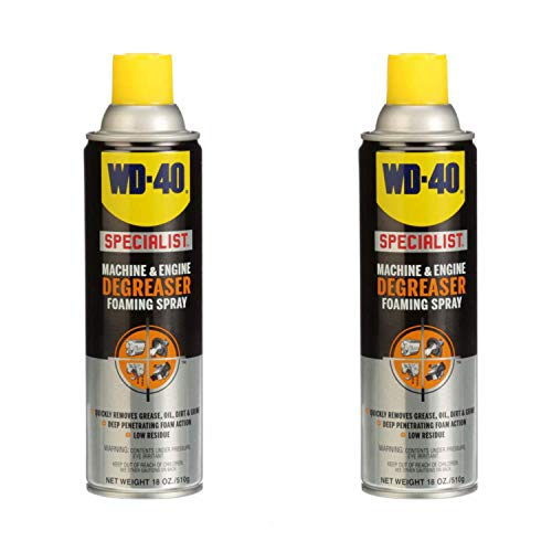 WD-40 Machine and Car/Truck Engine Cleaner Degreaser Spray, 18 Ounce (2 Pack)