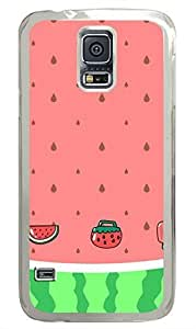 Lovely Watermelon PC Transparent Hard Case Cover Skin For Samsung Galaxy S5 I9600 hjbrhga1544