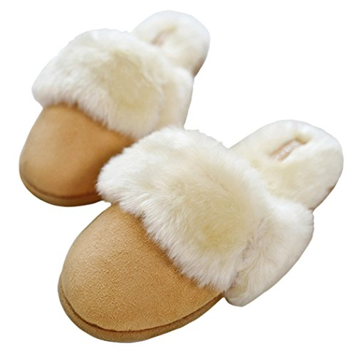 Pantofole In Morbida Pelle Scamosciata Di Camoscio Per Donna