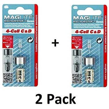 MAGLITE LMXA301 Flashlight Replacement Bulb Lamp 3-Cell C /& D Xenon Bi-Pin New