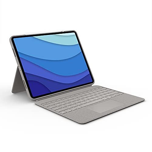 funda + teclado ipad pro 12.9 2021 Logitech Combo Touch sand