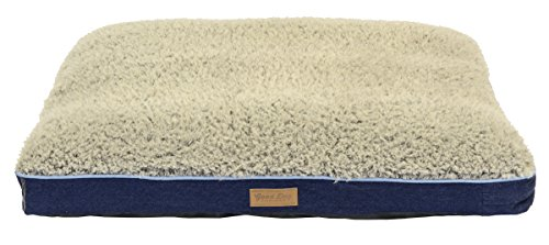 Dallas Manufacturing Co. Large Dog Bed with Chipped Memory Foam by Good Dog & Best Friend | Machine Washable Bed in Denim with Non Skid Bottom by Dallas Manufacturing Co.