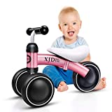 XJD Baby Balance Bikes Bicycle Baby Walker Toys Rides for 1 Year Boys Girls 10 Months-24 Months Baby's First Bike First Birthday Gift (Pink)