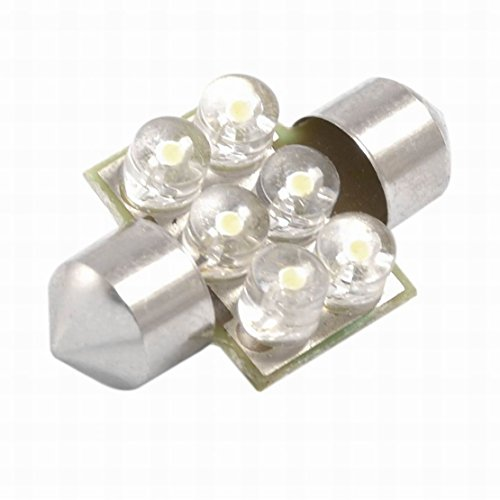 Price comparison product image FemiaD Car 31mm White 6 LED Festoon Dome Light Lamp DE3175 DE3022 Bulbs