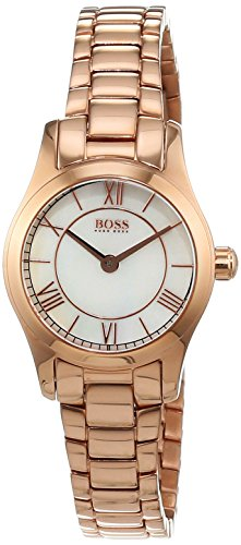 Hugo Boss Women's Quartz Watch Analogue Display And Stainless Steel Strap 1502378 Mother Of Pearl
