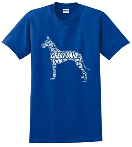 Dog Clothes Great Dane Word Art Dog Puppy Owner Gift T-Shirt Small Royal