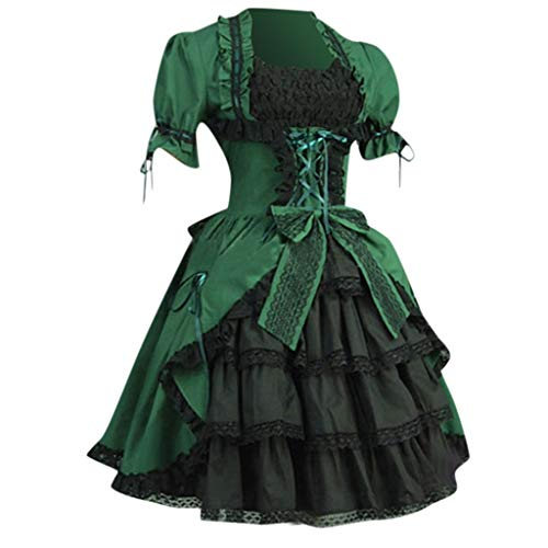 Women's Victorian Rococo Dress Civil War Ball Gown Southern Belle Costumes Green