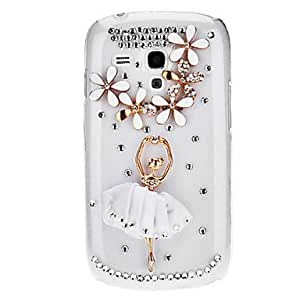 get Bling Bling Dancer Design Hard Case with Rhinestone for Samsung Galaxy S3 Mini I8190