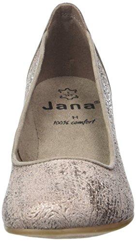 Jana Damen 22304 Pompes Beige (taupe / Métal 350)