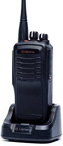 LISHENG LS-A8 Two Way Radio Rechargeable High Power 8W Long Range 5 Miles UHF 400-470MHz Walkie Talkies Include 2000mAh Li-ion Battery Black, Set of 1