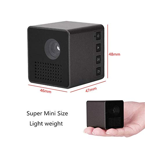 JJNGJ WiFi Wireless Mobile Projector Support Miracast Airplay DLNA Pocket Home Movie Led Mini Projector Smart Home Cinema,Black