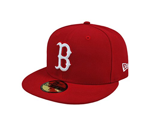 MLB Boston Red Sox Scarlet with White 59FIFTY Fitted Cap, 7 5/8
