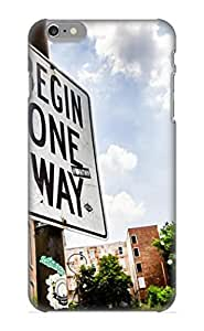 BBWtvB-1203-xCHLU Case Cover, Fashionable Iphone 6 Plus Case - One Way Sign At Glencoe Auburn Place In Cincinnati