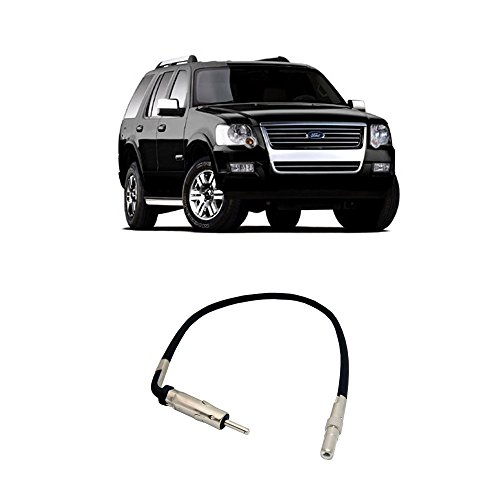 Fits Ford Explorer 2006-2010 Factory Stereo to Aftermarket Radio Antenna Adapter Plug ()