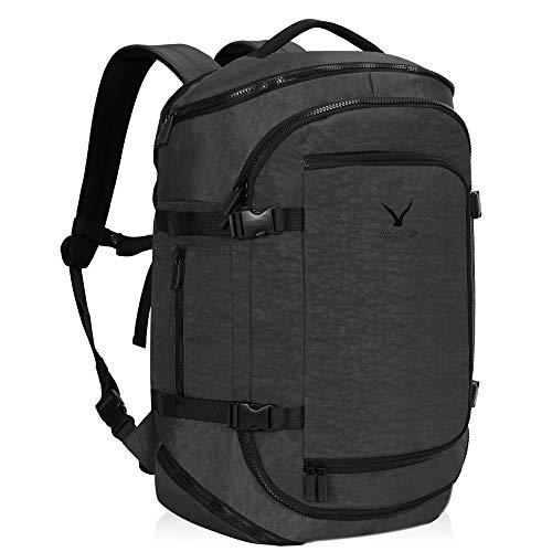 Hynes Eagle Travel Backpack Flight Approved Carry on Backpack Weekender Cabin Hand Luggage 45L Grey 2019