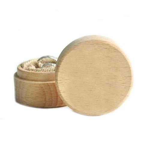 Taloyer Round Rustic Custom Wooden Wedding Ring Box Personalized Gift storage Box Decoration
