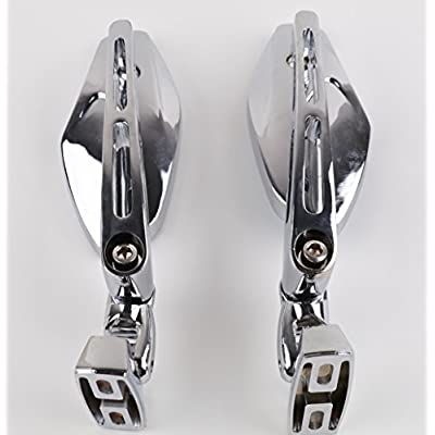 XYZCTEM Universal Chrome Adjust Racing Sport Mirrors for Honda CBR 600 1000 RR F4i F4 Suzuki GSXR 600 700 1000 1300 Hayabusa Busa Kawasaki Ninja ZX 6R 7R 9R 10R 12R 14R Yamaha YZF R1 R6 R6S 1000 600: Automotive